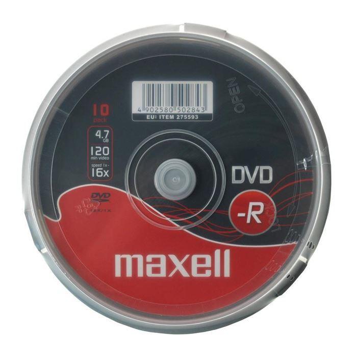 Maxell DVD-R 4,7GB 16X 10 na osi