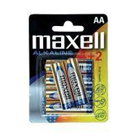 Maxell Baterija AA (LR6), 6 kos, alkalna