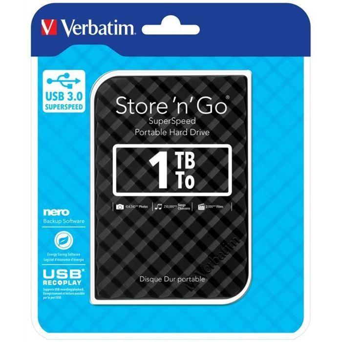 """Zunanji trdi disk 2.5"""" 1TB USB 3.0 Verbatim"""