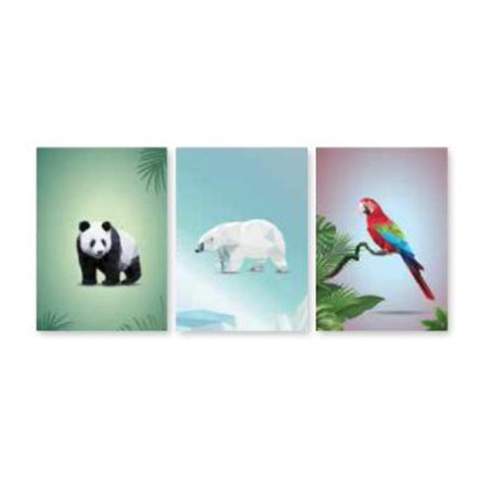 ZVEZEK A4, 52 LISTNI, BREZČRTNI, NEW DESIGN, ANIMALS