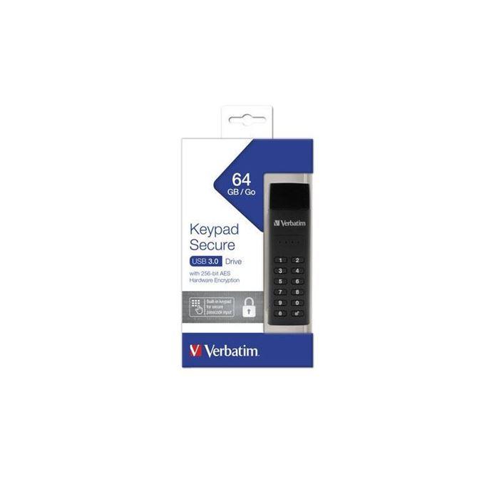 VAREN POMNILNIŠKI KLJUČ USB VERBATIM Keypad Secure 64GB