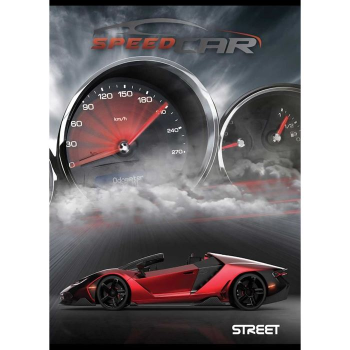 ZVEZEK STREET FAST CARS, SORTIRANO, A4, brezčrtni