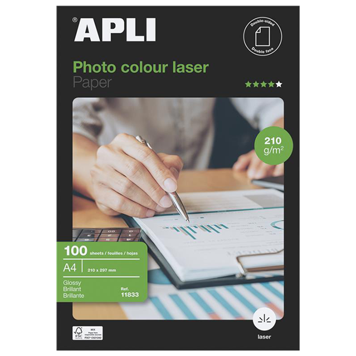 APLI FOTO PAPIR A4 Laser Glossy 210g