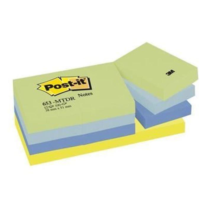 POST-IT BLOK KOCKA 38X51MM 12X100L